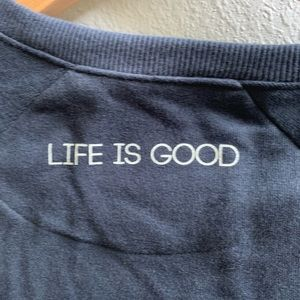 Life Is Good Tops - Life Is Good Sleep Sweatshirt Rose Print